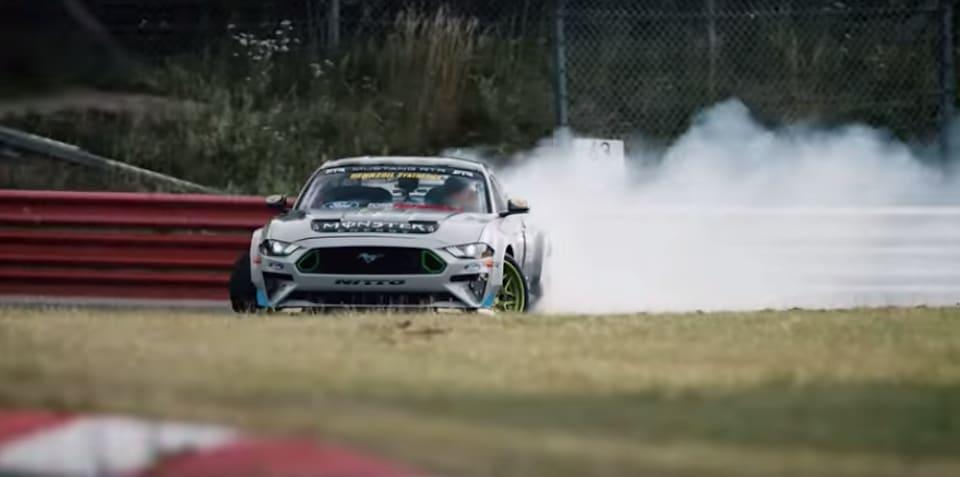 Vaughn Gittin Jr. drifts the Nurburgring - video