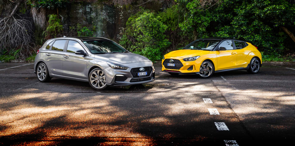 2020 Hyundai Veloster Turbo v i30 N-Line comparison