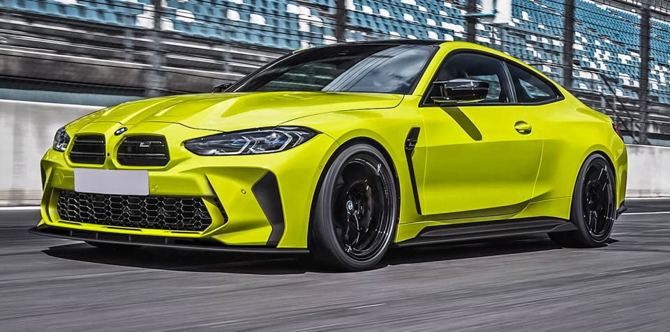 Aftermarket BMW M3 and M4 grilles and bumper set for production