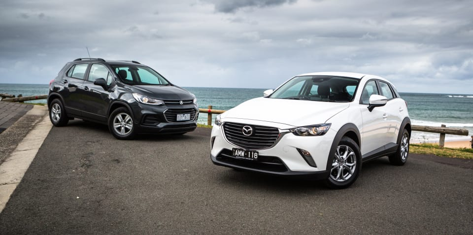 2017 Mazda CX-3 Maxx v Holden Trax LS comparison