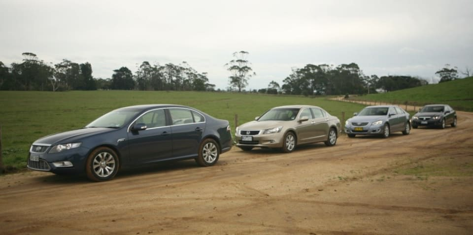 Large Car Comparison (Ford-Holden-Honda-Toyota)