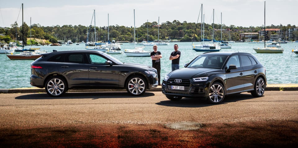 2018 Audi SQ5 TFSI v Jaguar F-Pace S 35t comparison