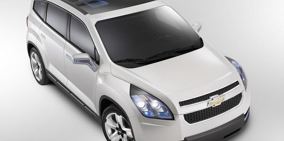 Holden made Chevrolet Orlando Paris debut