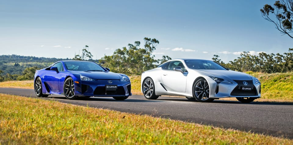 Video: Lexus LFA and Lexus LC500 together