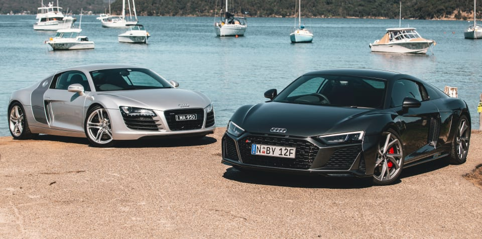 Old v New: 2020 Audi R8 V10 RWD v 2008 Audi R8 V8 manual