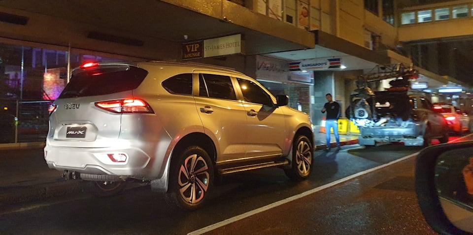2021年五十铃MU-X在悉尼街头被摄像头拍到,澳大利亚人几个月后抵达悉尼