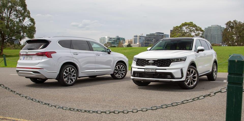 2021 Hyundai Santa Fe Highlander v Kia Sorento GT-Line comparison