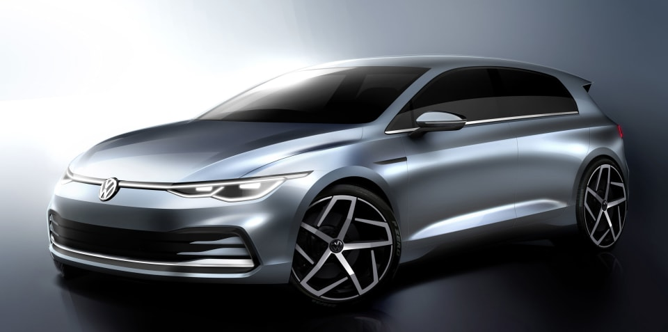 2021 Volkswagen Golf sketched out ahead of October 25 unveiling