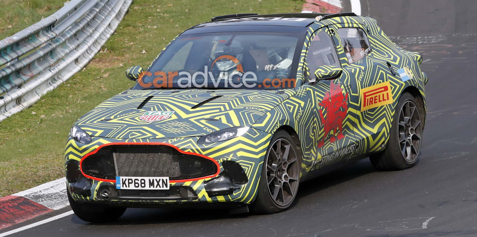2020 Aston Martin DBX spied inside and out