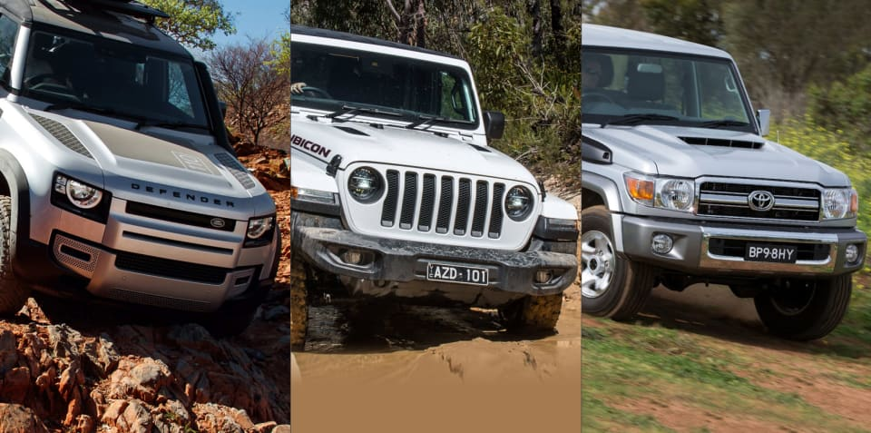 Off-road specs comparison: Land Rover Defender 110 v Jeep Wrangler Rubicon v Toyota LandCruiser 76