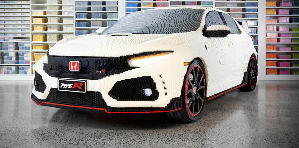 Life Size Lego Honda Civic Type R Debuts In Melbourne We Talk With