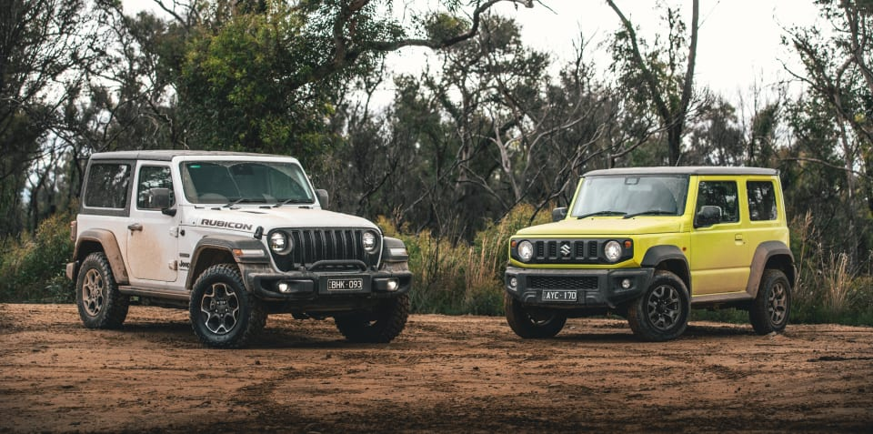 Naughty Shorties: Jeep Wrangler versus Suzuki Jimny off-road comparison