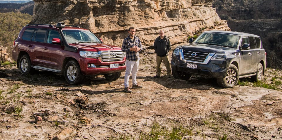 2020 Toyota LandCruiser v Nissan Patrol off-road comparison review