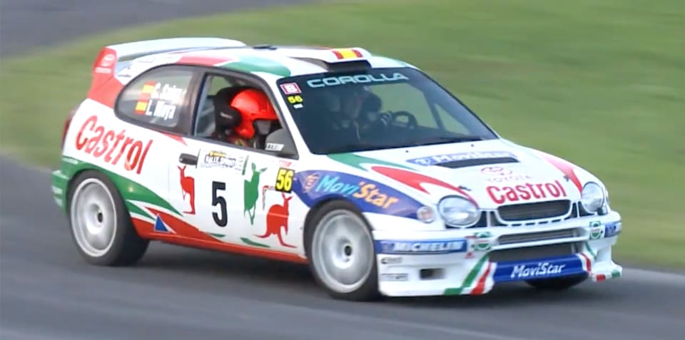 Restored WRC Toyota Corolla tackles Sydney road rally - video
