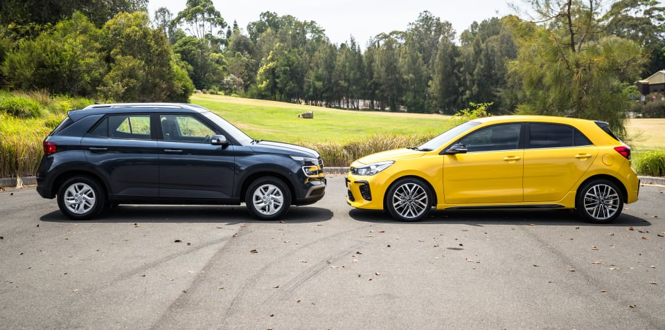 2020 Hyundai Venue Active v Kia Rio GT-Line comparison