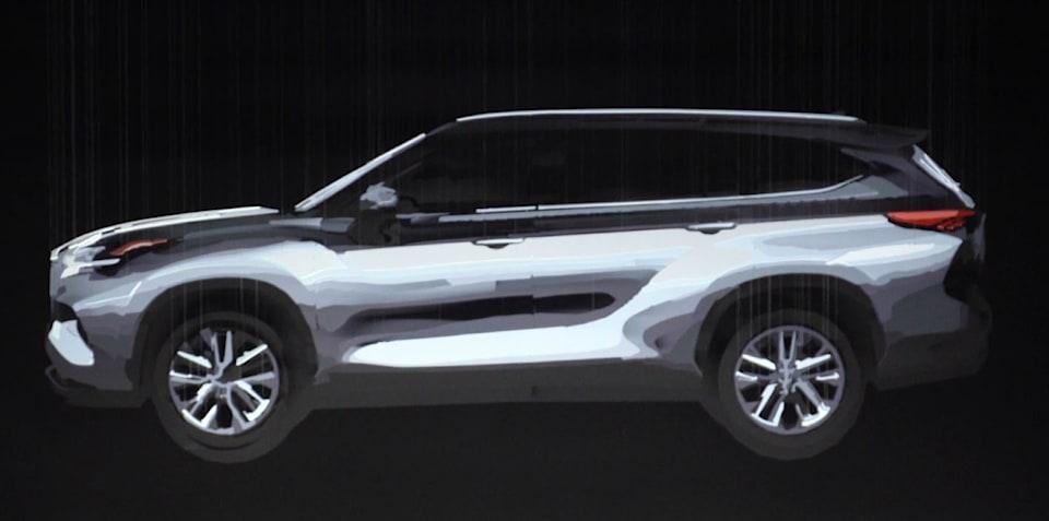 2020 Toyota Kluger teased