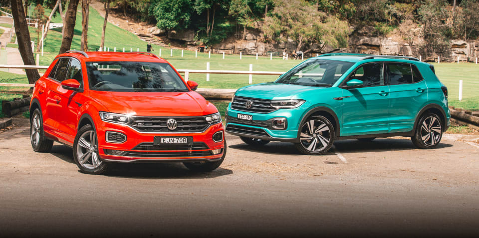 2020 Volkswagen T-Cross v Volkswagen T-Roc comparison