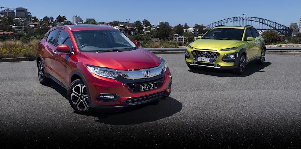 2019 Hyundai Kona v Honda HR-V comparison