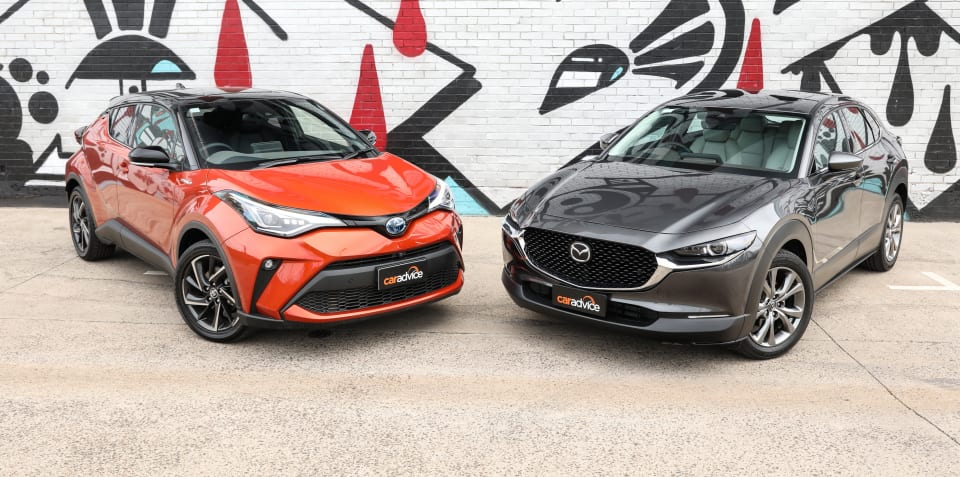 2020 Mazda CX-30 v Toyota C-HR comparison