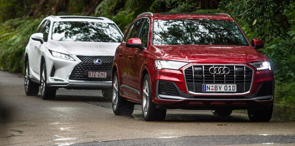 Large luxury SUV review: 2020 Audi Q7 50TDI v Lexus RX450hL comparison