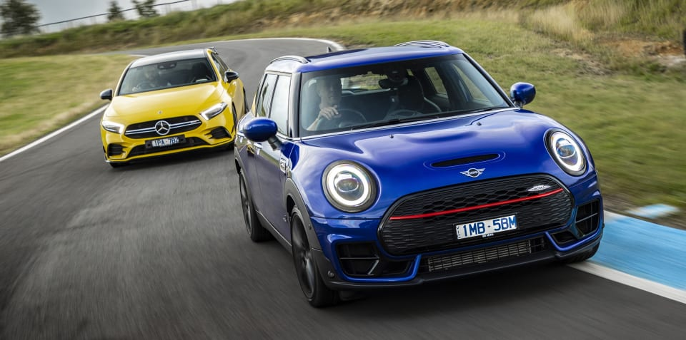 2020 Mini Clubman JCW v Mercedes-AMG A35 comparison