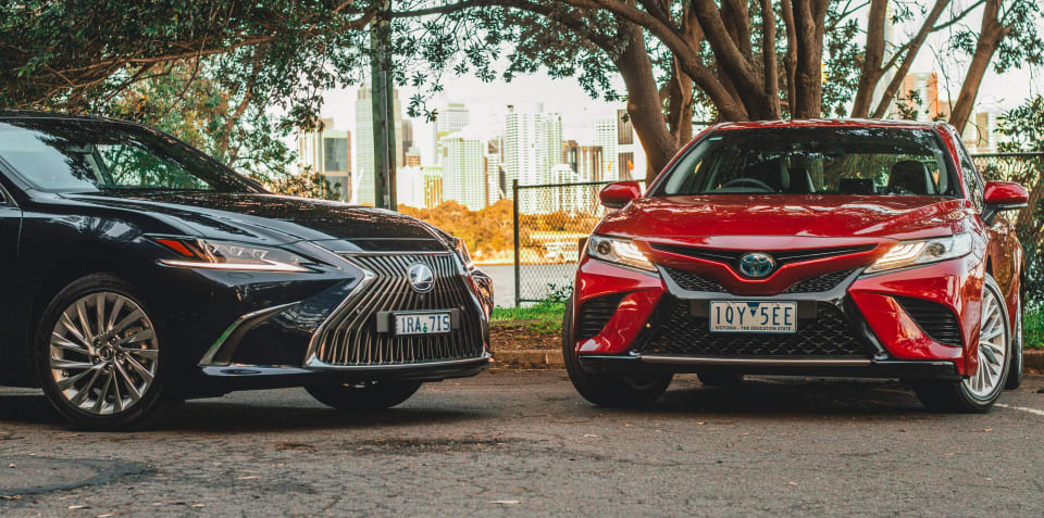 2020 Toyota Camry SL hybrid v Lexus ES300h Sports Luxury comparison