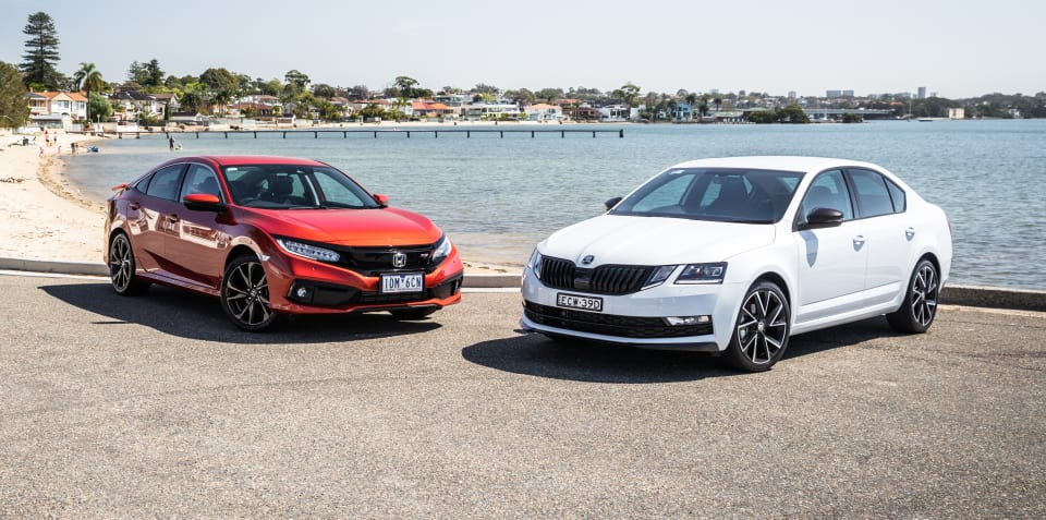 2019 Honda Civic RS v Skoda Octavia Sport sedan comparison