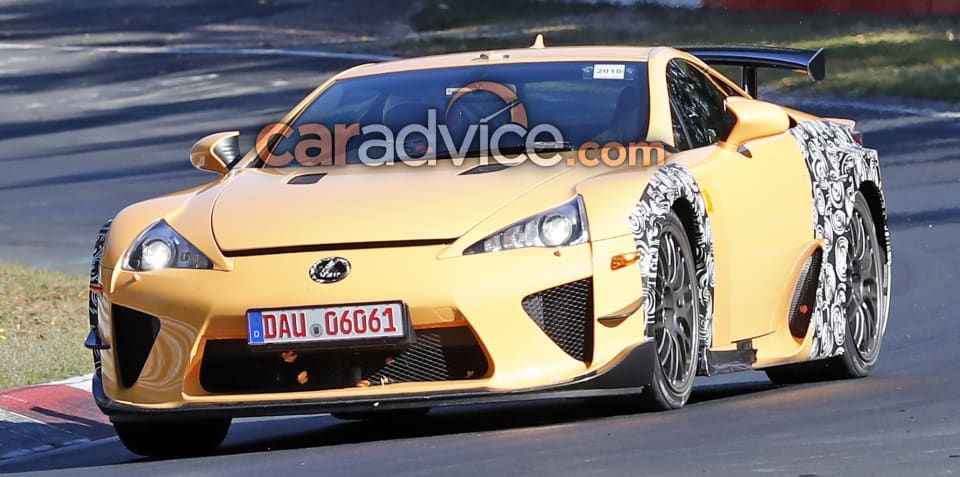 Lexus LFA: Mystery prototype spied at the Nurburgring