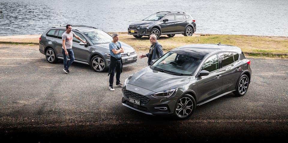 2019 Ford Focus Active v Subaru XV v Volkswagen Golf Alltrack comparison