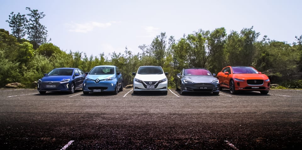 2019 electric vehicle comparison: Jaguar I-Pace v Hyundai Ioniq v Nissan Leaf v Tesla Model S v Renault Zoe
