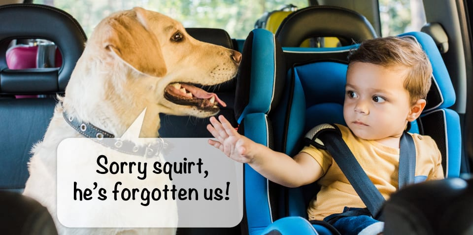 You shouldn't need a reminder your kids are in the back seat!