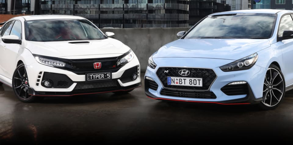 2020 Honda Civic Type R v Hyundai i30 Fastback N comparison