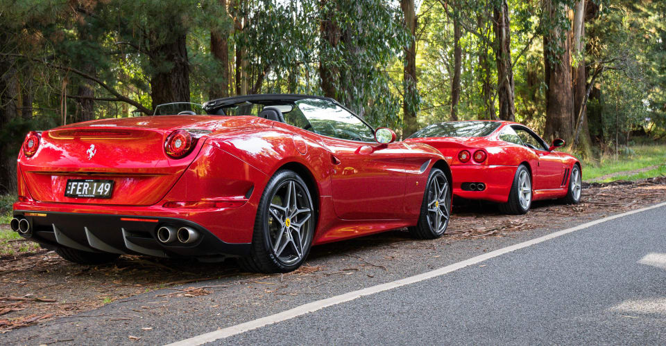 Morning mountain blast: A drive and a coffee with a friend and a pair of Ferraris