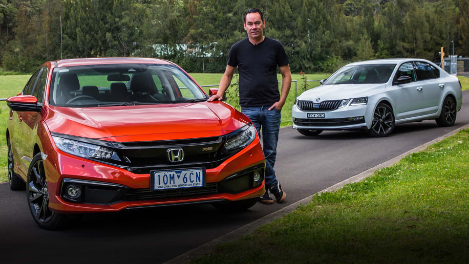 2019 Skoda Octavia Sport v Honda Civic RS: small sedan comparison