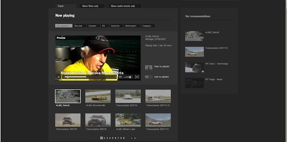 Porsche launches Web Cinema
