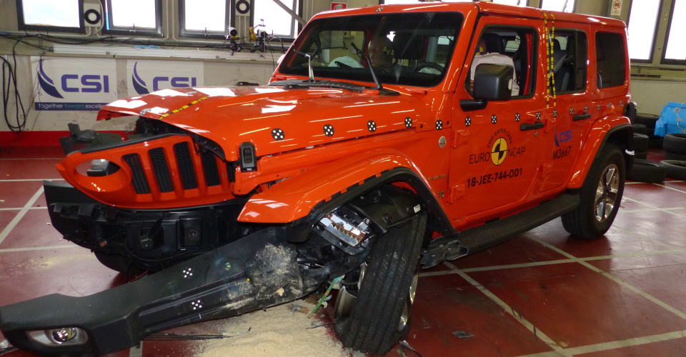 2019 Jeep Wrangler handed devastating 1 Star Euro NCAP ...