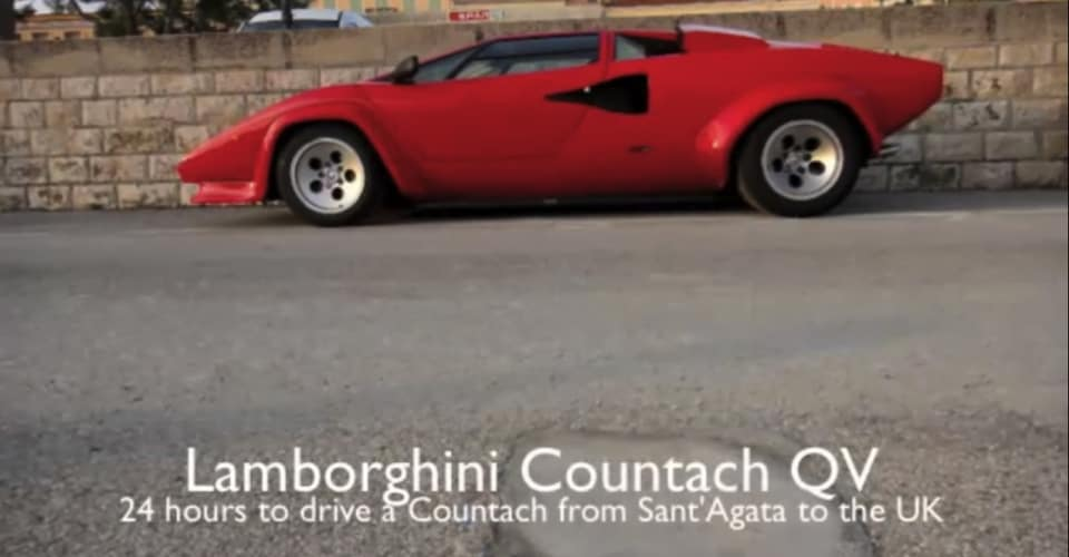 Video Lamborghini Countach Quattrovalvole Drive From Sant Agata To