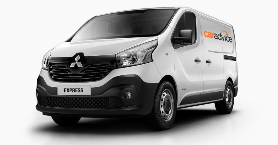 mitsubishi express reborn australian future  renault trafic based van caradvice