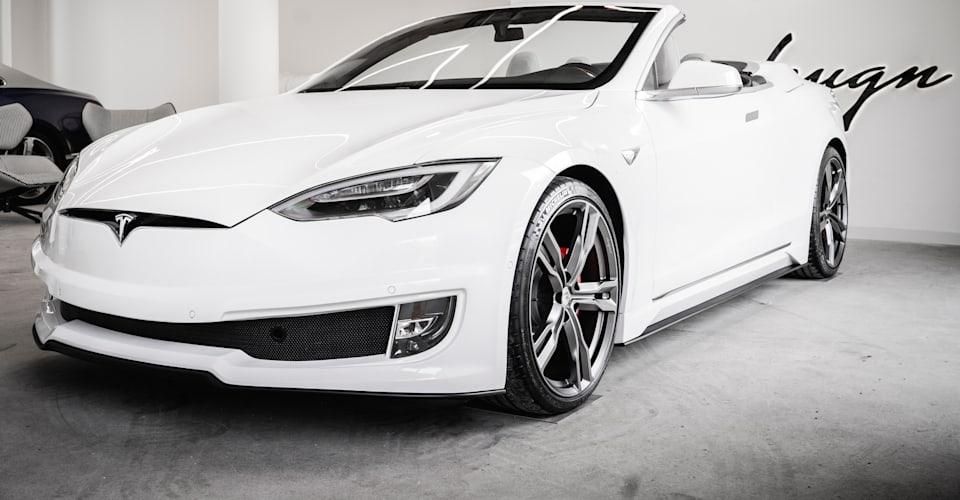 Кабриолет Tesla Model S представлен Ares Design |  CarAdvice