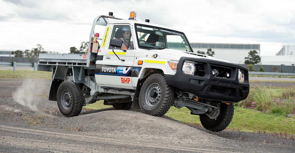 Toyota и BHP начинают испытания электрического LandCruiser 70 Series |  CarAdvice