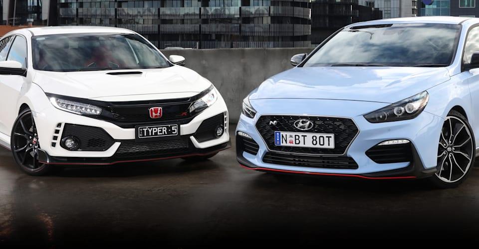 2020 Honda Civic Type R v Hyundai i30 Fastback N comparison
