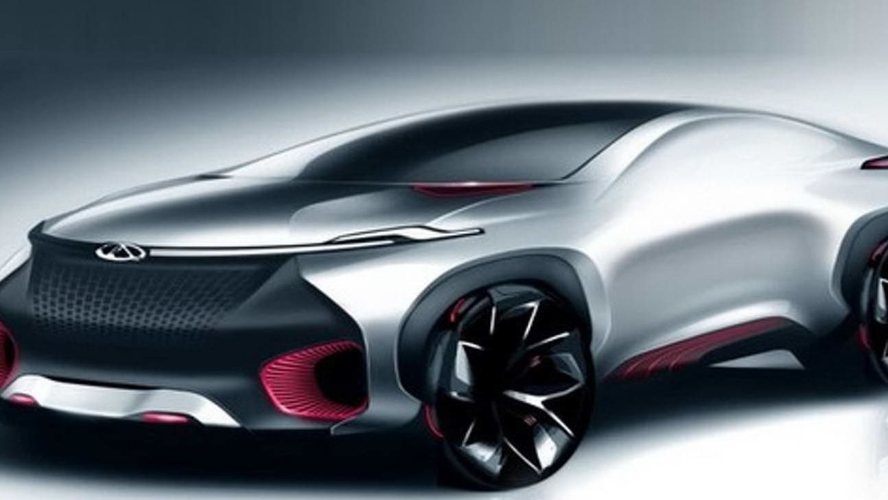 Chery FV2030 concept car editorial stock image. Image of