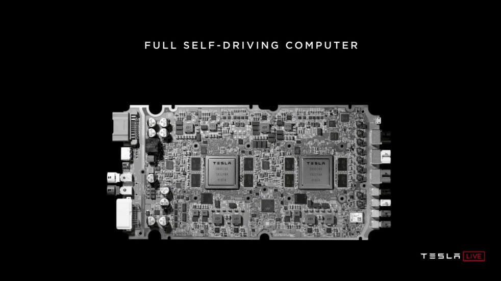 Tesla full self-driving computer revealed: 'The best chip in the world' according to Musk