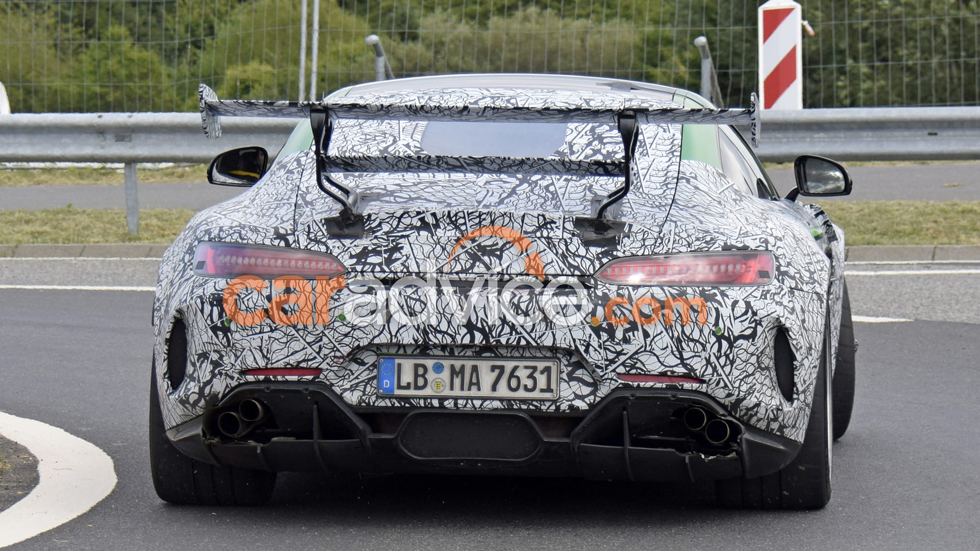 2020 Mercedes-AMG GT R Black Series spied with massive rear