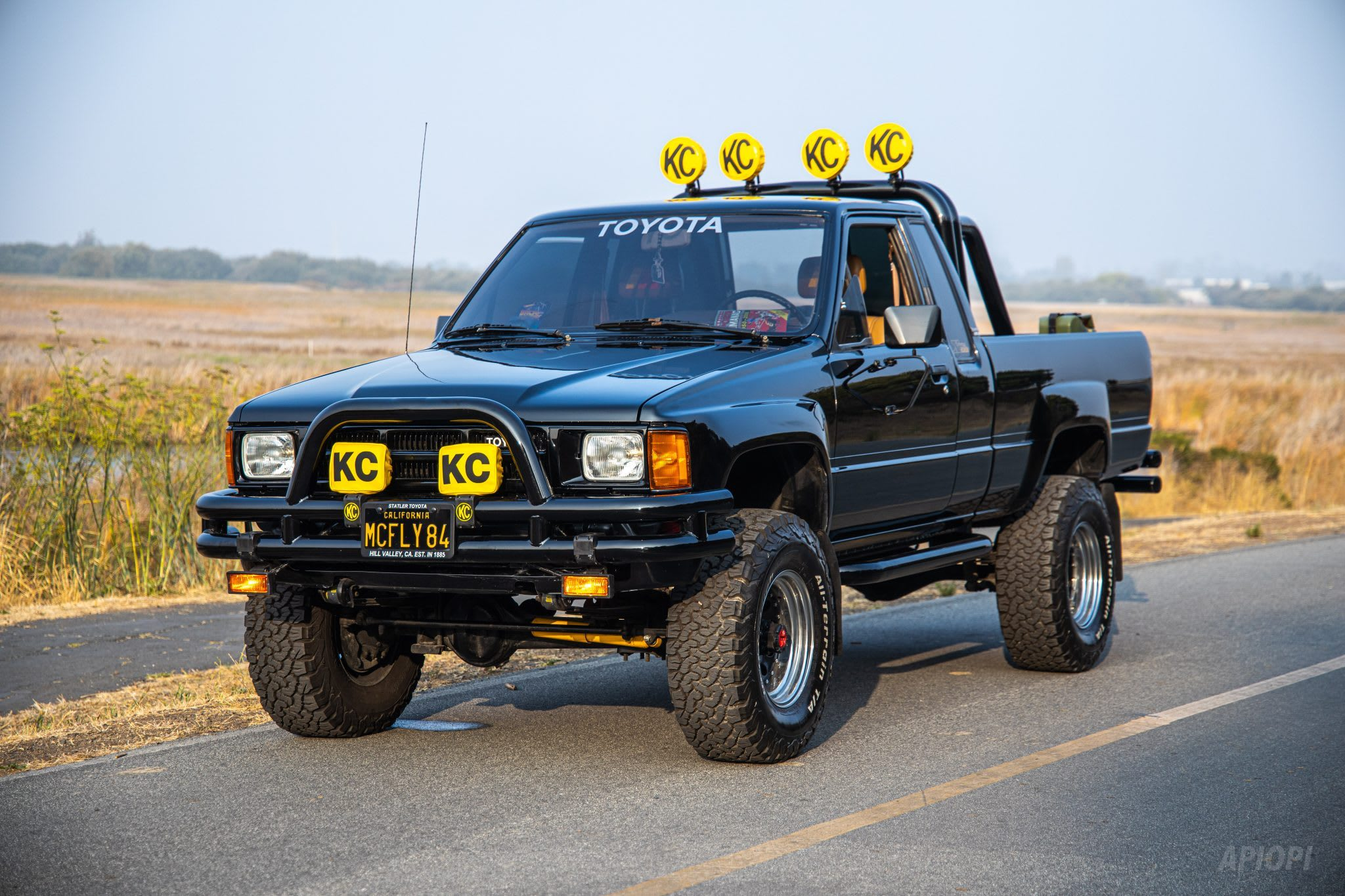 Check out that 4x4! Back to The Future Toyota Hilux tribute for sale.  UPDATE: Sold and coming to Aus! | CarAdvice