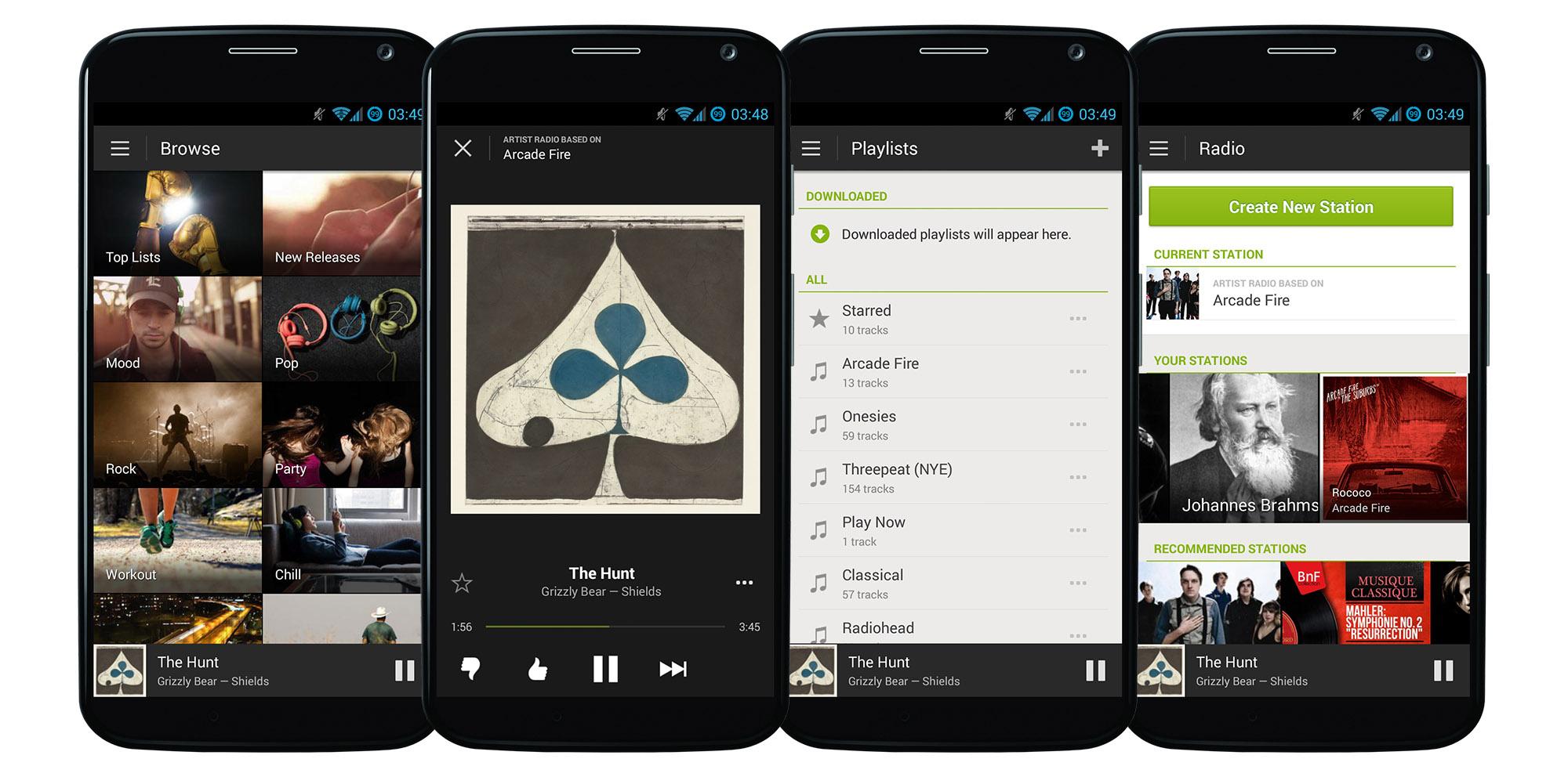 Music streaming apps for the car: Pandora v Spotify v Rdio v