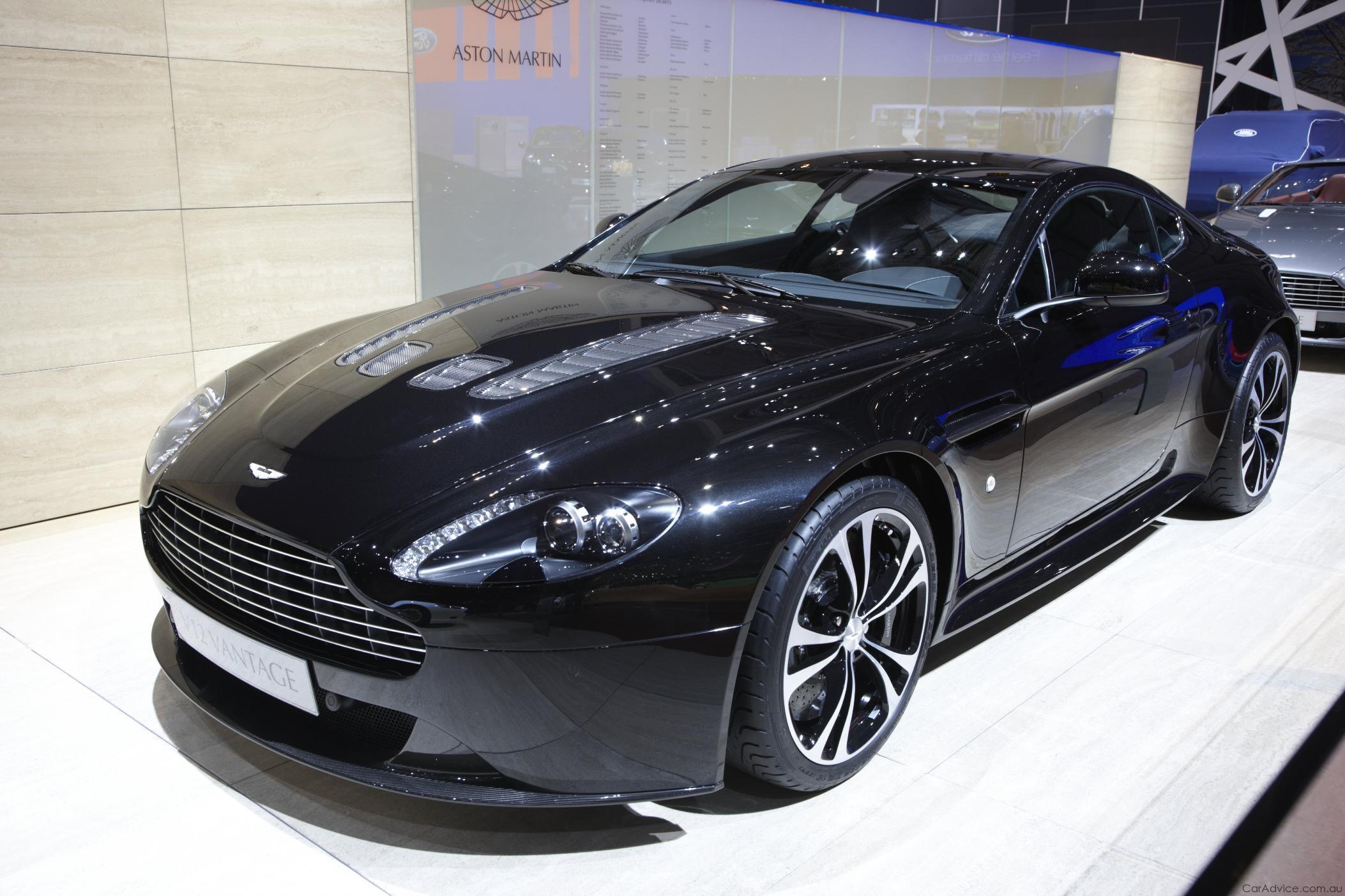 Aston Martin V12 Vantage Carbon Black Edition Geneva 2010 Caradvice