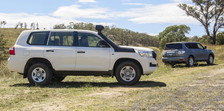 Nissan Patrol v Toyota LandCruiser Comparison   CarAdvice