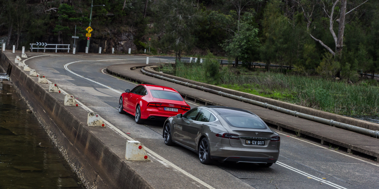 Audi RS7 Sportback v Tesla Model S P85D : Comparison Review | CarAdvice