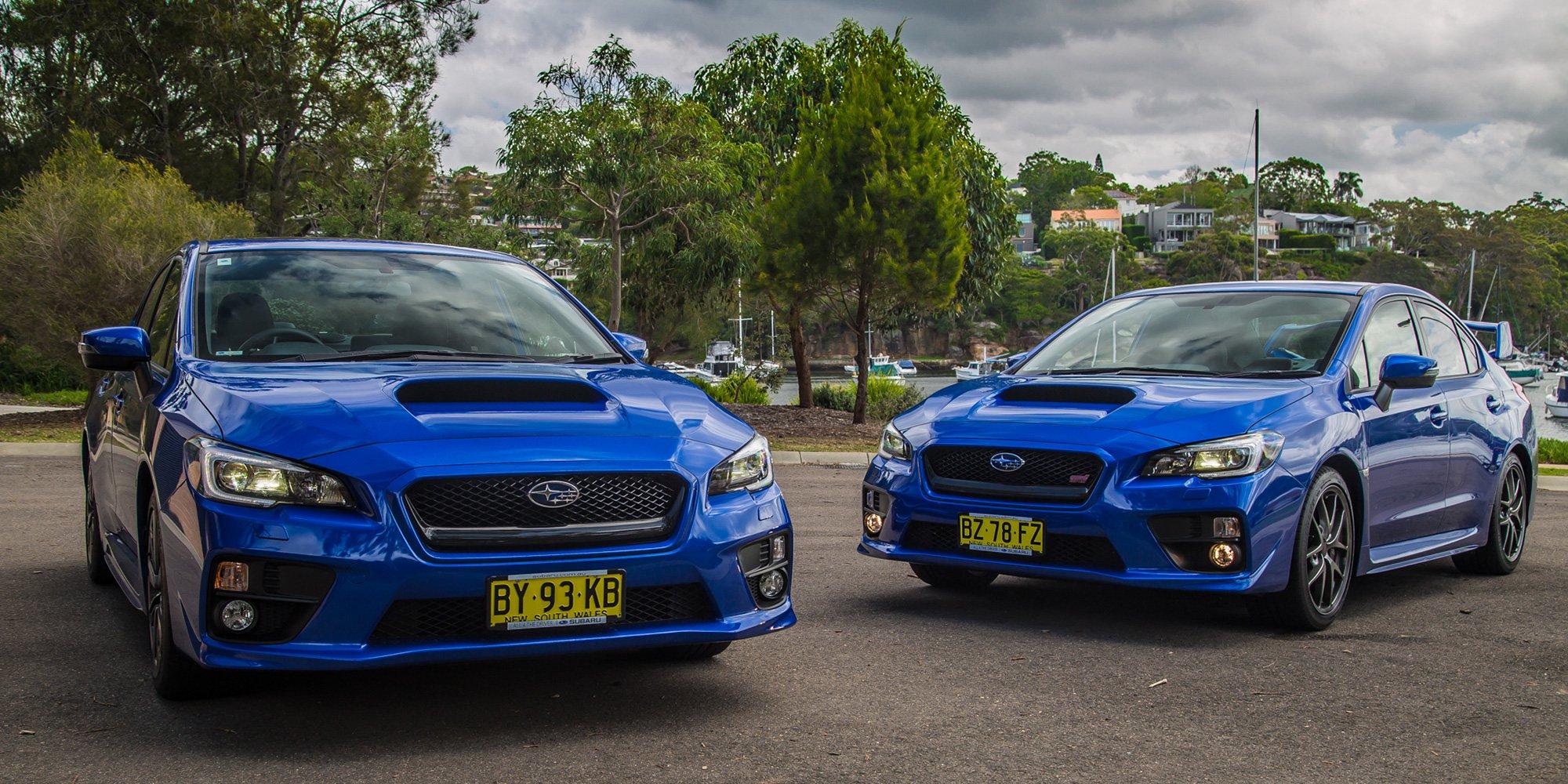 Difference Between Wrx And Sti >> Subaru Wrx V Subaru Wrx Sti Comparison Review Caradvice